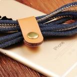 Jeans Lightning kabel 3 meter blauw