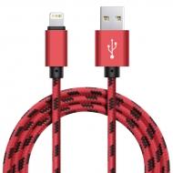 Xinnier nylon Lightning kabel 1 meter rood