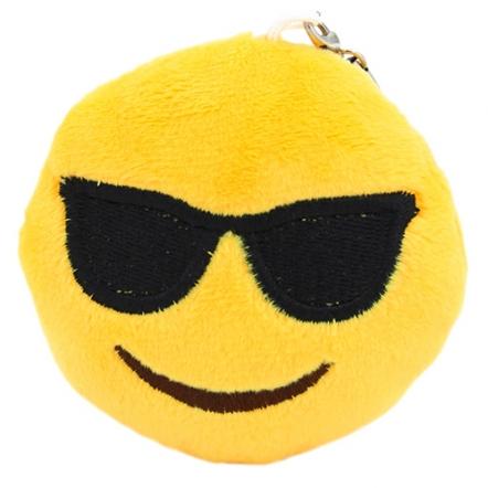 Emoji sleutelhanger met zonnebril