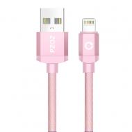 PZOZ nylon Lightning kabel 2 meter roze