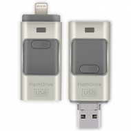 Lightning, micro USB en USB stick - 32GB
