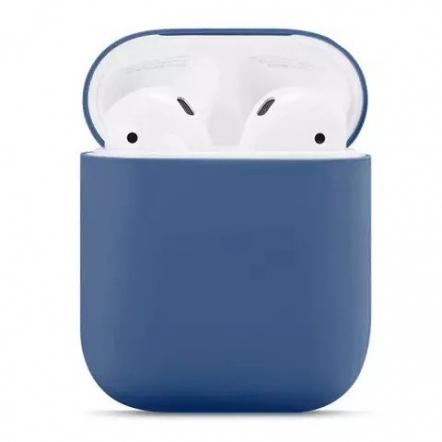 Siliconen beschermhoes voor AirPods oplaadcase blauw