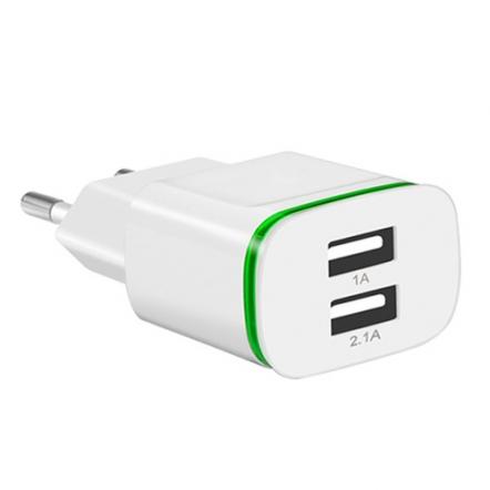 USB adapter met 2 poorten wit