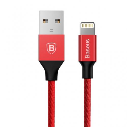 Baseus Yiven nylon Lightning kabel 1,8 meter rood