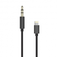 Lightning naar 3,5 mm jack aux audio kabel 20 centimeter