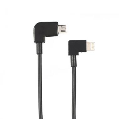 Lightning naar micro USB data kabel haaks 15 cm