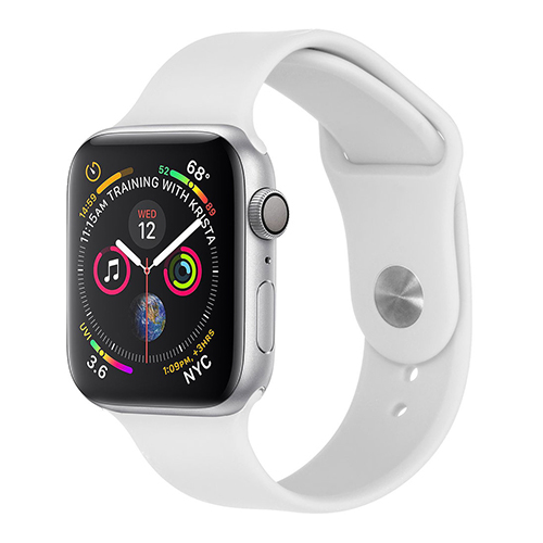 Sport bandje voor Apple Watch 42mm/44mm wit
