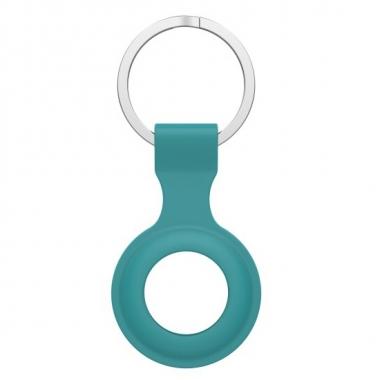 Groene siliconen sleutelhanger voor AirTag
