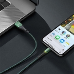 Mcdodo nylon Lightning naar USB kabel 1,8 meter groen